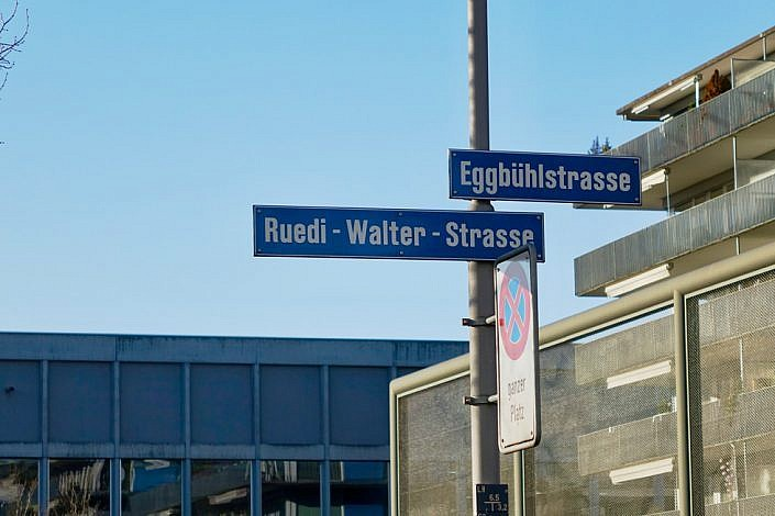 Ruedi Walter street sign in Zürich
