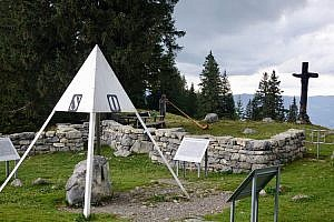 Geographical Center of Switzerland - Älggialp