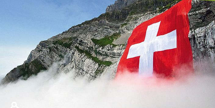 World's largest Swiss flag
